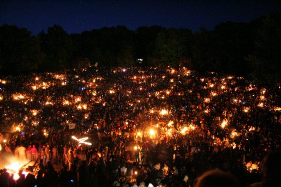 Вальпургиева ночь в театре под открытым небом в Гейдельберге