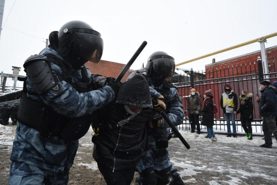 Фото с протестов в России 31 января 2021 года