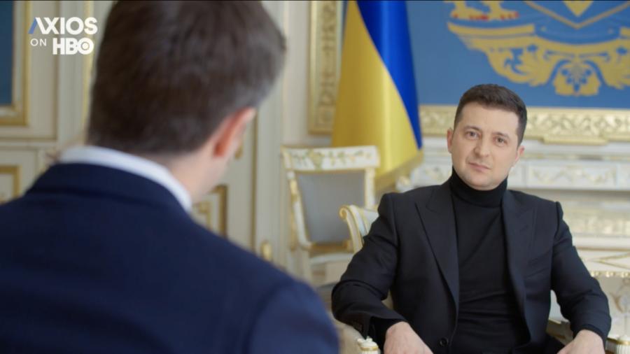 Владимир Зеленский, кадр из интервью для Axios