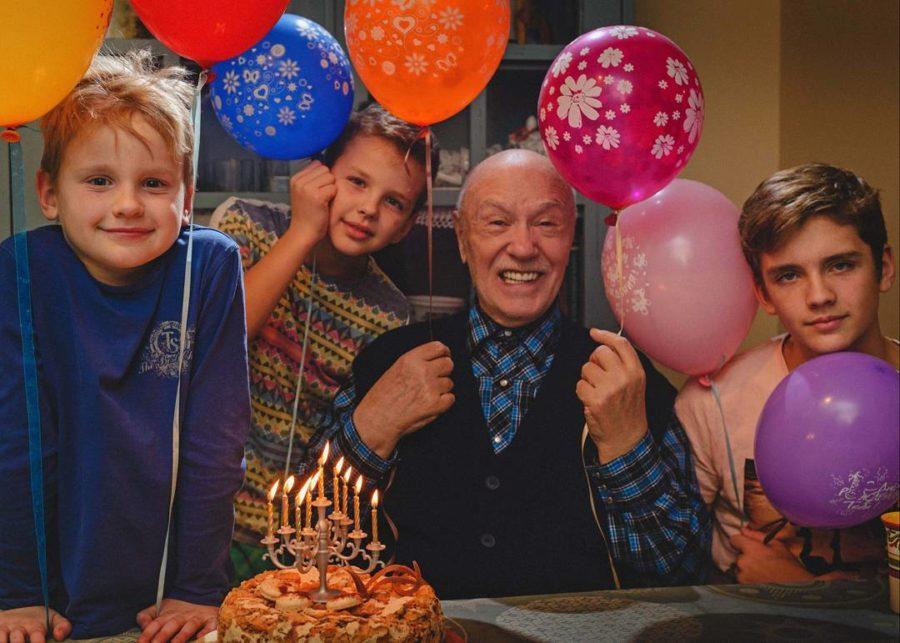Леонид Куравлев с внуками, 2017 год