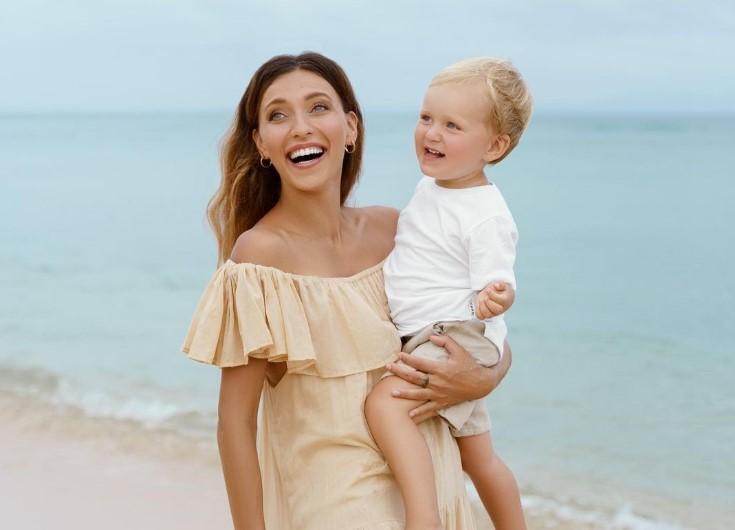 Регина Тодоренко и ее сын Майкл
