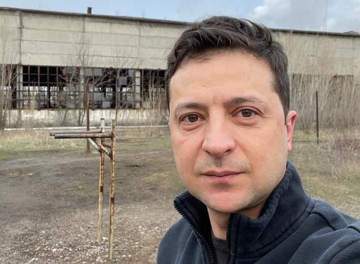 Владимир Зеленский в Авдеевке
