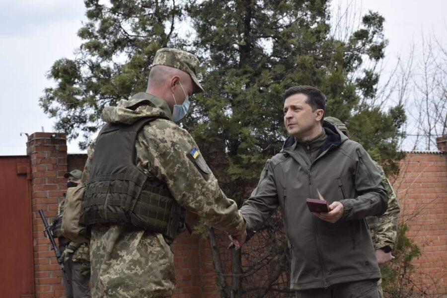 Владимир Зеленский на Донбассе 8 апреля 2021 года