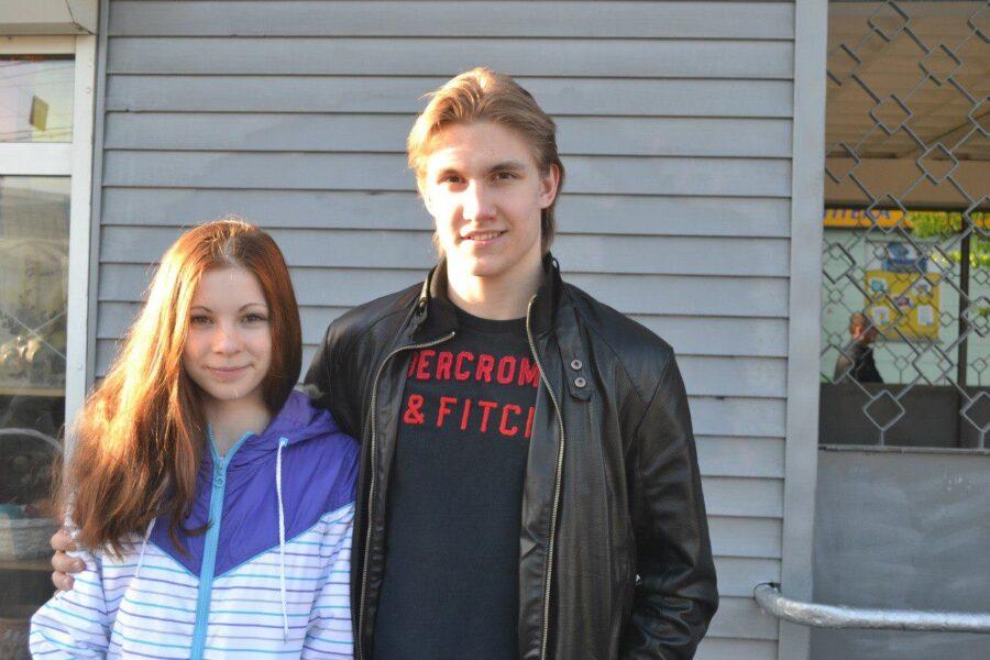 Кевин Антипов с сестрой