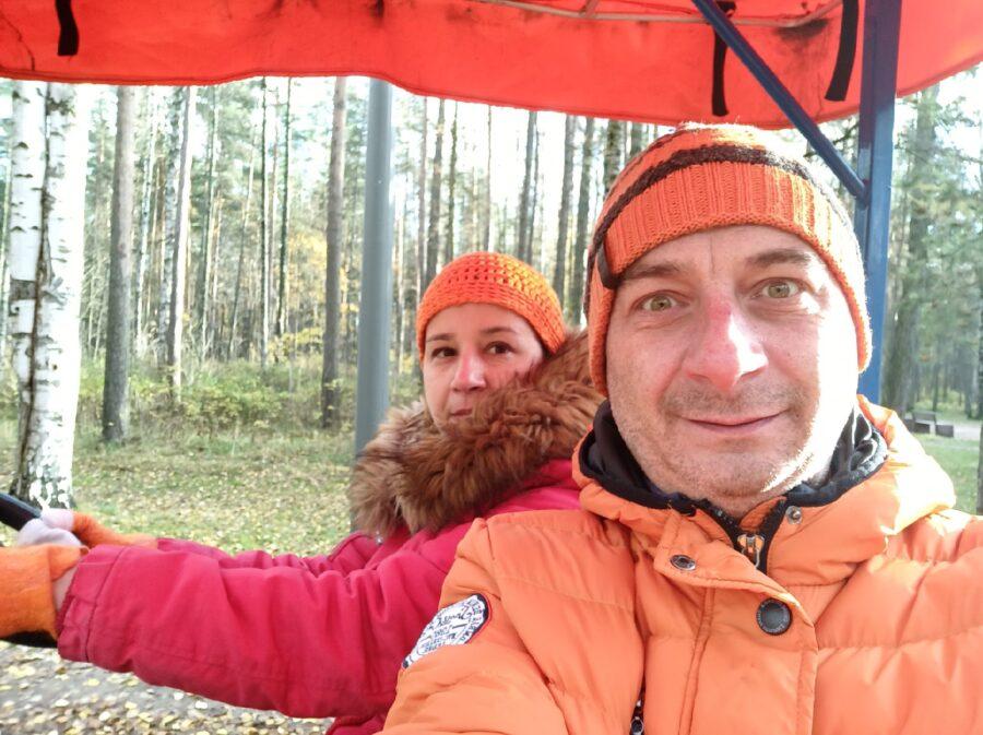 Михаил Серков и его жена Рената