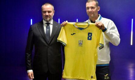 Андрей Павелко, Андрей Шевченко и новая форма сборной Украины по футболу