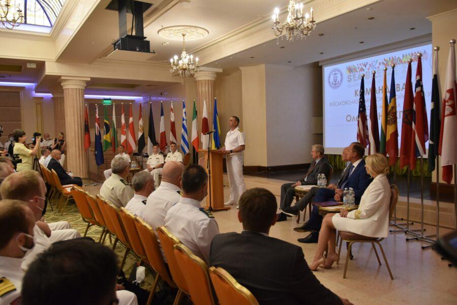 Церемония открытия Sea Breeze 2021 в Одессе 28 июня 2021 года