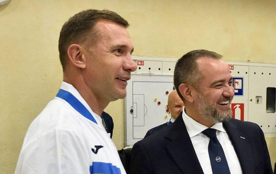 Андрей Шевченко и Андрей Павелко