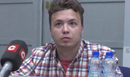 Роман Протасевич. Кадр с трансляции БелТА