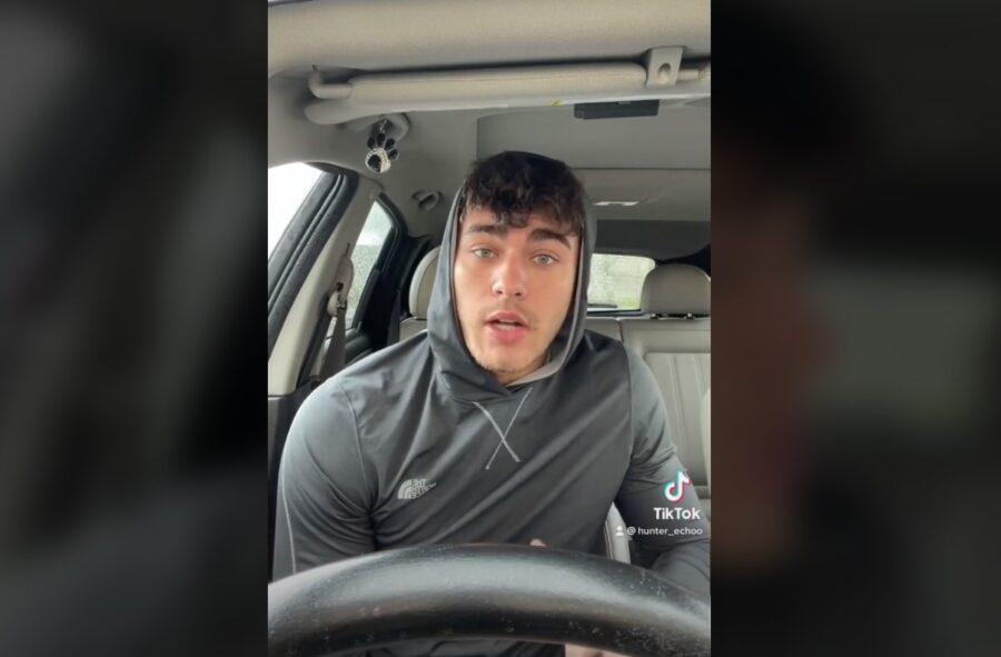 Хантер Эхо. Кадр из его видео на тиктоке